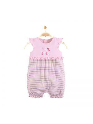 Mom And Bab Flutter Sleeves Bodysuit - Pink