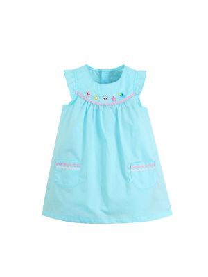 Mom And Bab Sea Lion Collection - Sky Blue Summer Dress