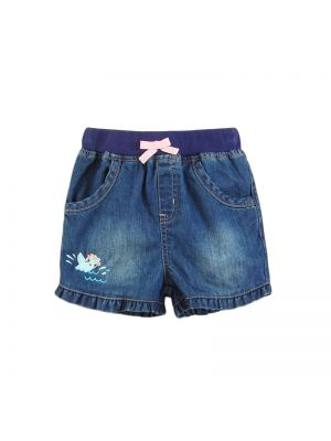 Mom and Bab Sea Lion Collection - Pull-on Denim Shorts