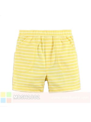 Mom And Bab Short Pants - Yellow White Stripes