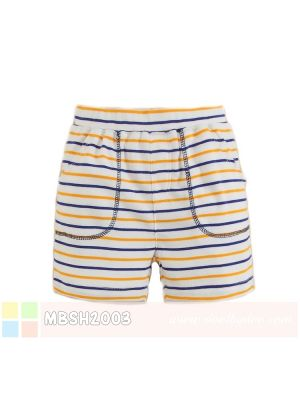 Mom And Bab Short Pants - Orange Blue Stripes