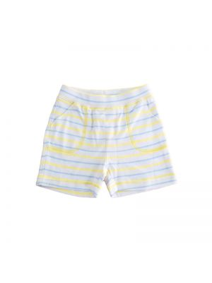 Mom And Bab Short Pants - Blue Yellow Stripes