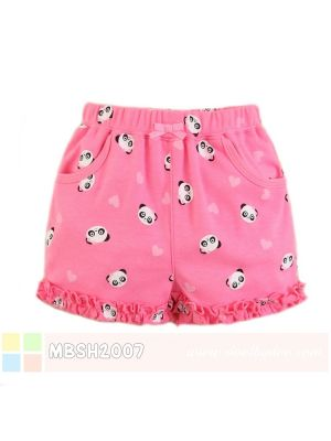 Mom And Bab Short Pants - Pink Panda