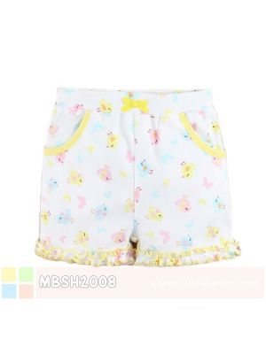Mom And Bab Short Pants - Yellow Chicks