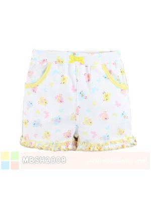 Mom And Bab Short Pants - Yellow Chicks