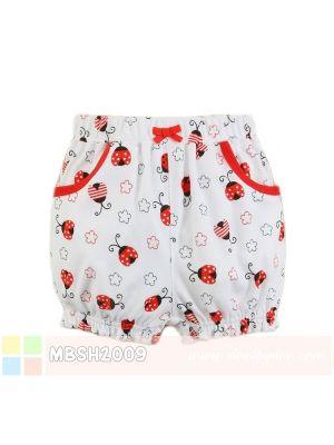 Mom And Bab Short Pants - Red Ladybug