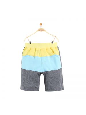 Mom And Bab Shark Collection - Colour Block Shorts