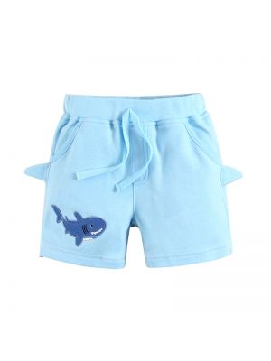 Mom And Bab Shark Collection - Light Blue Shorts