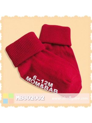 Mom And Bab Socks 2pk - Red
