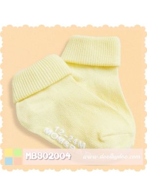 Mom And Bab Socks 2pk - Yellow
