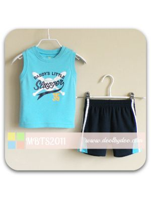 Mom And Bab Sport Tee Set - Blue/Mesh