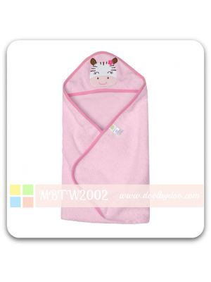 Animal Hooded Towel - Pink