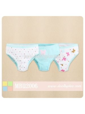 Mom And Bab Underwear 3pk Girls' Panties - Butterflies
