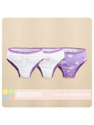 Mom And Bab Underwear 3pk Girls' Panties - Owl