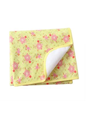 Mom And Bab Yellow Urinal Pad - Pink Flower