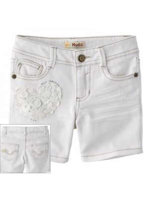 Mudd Crochet Heart Denim Shorts