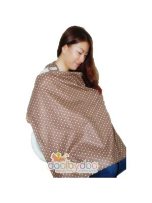 Bloom Nursing Cover - Mocha Polka