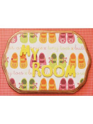 Decoupage Signage My Room - Girl