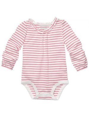 Ivory Red Striped Bodysuit