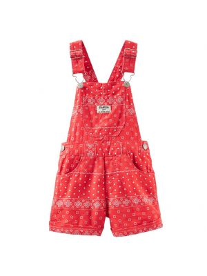 OshKosh B'gosh Linen Shortalls - Red