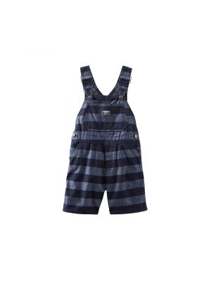 OshKosh B'gosh® Striped Chambray Shortalls
