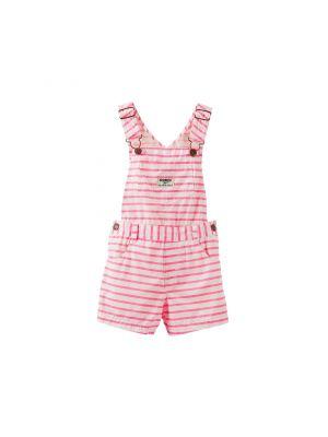 OshKosh B'gosh® Neon Stripe Poplin Shortalls