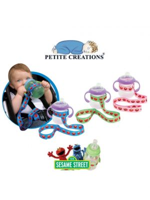 Petite Creations No Throw Sesame Street Bottle & Sippy Holder