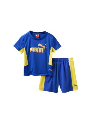 Puma Melted Tee & Shorts Set - Royal Blue
