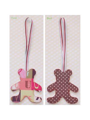 Decoupage Teddy Bear - Letters/Polkadots