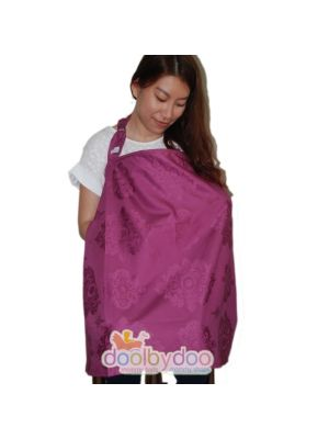 Bloom Nursing Cover - Wine Damask