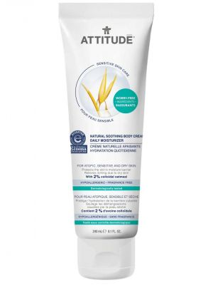 Attitude Sensitive Skin Care, Soothing Body Cream