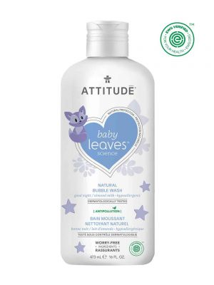 Attitude Baby Leaves Bubble Wash 473ml - Almond Milk