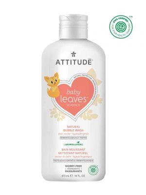 Attitude Baby Leaves Bubble Wash 473ml - Pear Nectar