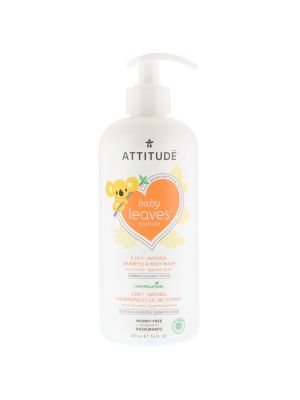 Attitude Baby Leaves 2 in 1 Shampoo and Body Wash 473ml - Pear Nectar