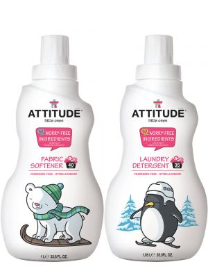 ATTITUDE Baby Detergent & Fabric Softener (Fragrance Free) - Bundle