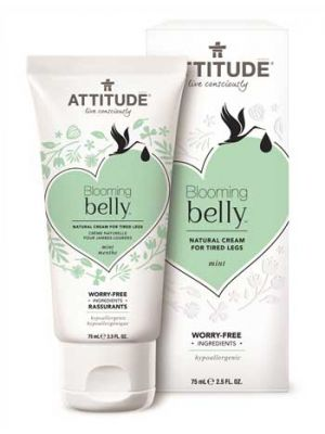 ATTITUDE Blooming Belly Natural Cream for Tired Legs - Mint
