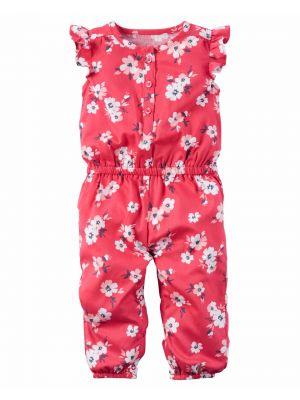 Carter's Floral Flutter-Sleeve Jumpsuit