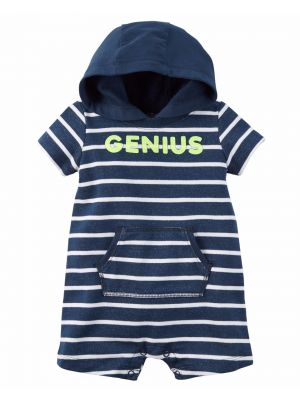 Carter's Hooded French Terry Romper - Genius