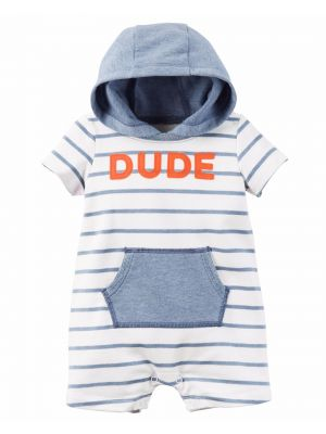 Carter's Hooded French Terry Romper - Dude