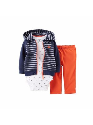 Carter's Stripe Hooded Cardigan Set