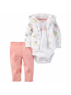 Carter's Baby Girls 3-Piece So Happy Hoodie Set