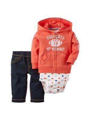 Carter's Football Cardigan and Pants Set