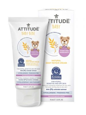 Attitude Sensitive Skin Care, BABY Deep Repair Cream - Fragrance Free