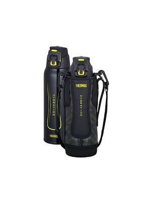 Thermos Sports Bottle w/ Bag 1L - Black Yellow | FFZ-1001F BKY