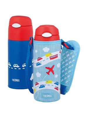 Thermos 0.4L Straw Bottle with Bag | FHL-400F-SKY