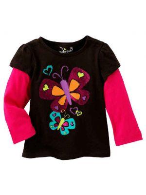 Mock-Layer Glitter Butterfly