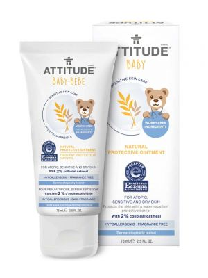 Attitude Sensitive Skin Care, BABY Protective Ointment - Fragrance Free