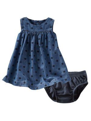 Oshkosh B'Gosh 2-Pcs Dotted Chambray Dress