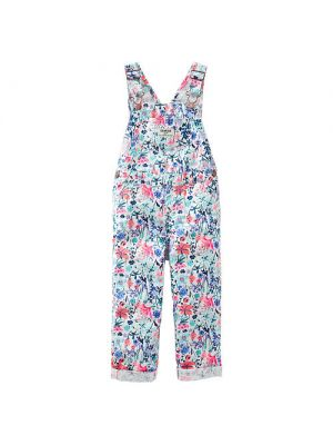 Oshkosh Girls Allover Floral Print Front Pocket Overalls