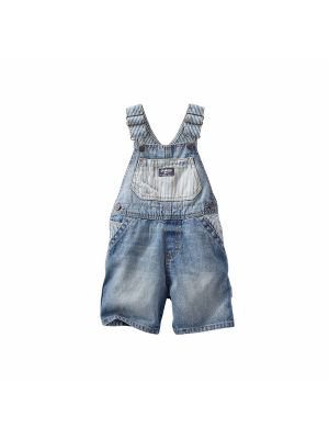 OshKosh B'gosh Hickory Blocked Shortalls,
